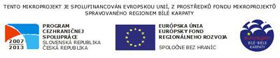 Tento projekt je spolufinancován evropskou unií, z prostředků fondu mikroprojektů spravovaného regionem Bílé Karpaty.
