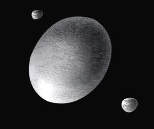 Trpasličí planeta Haumea a její dva měsíce