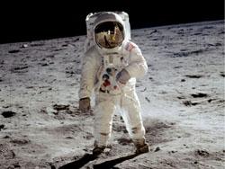Edwin Aldrin na povrchu Měsíce