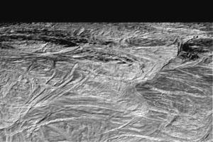 Povrch měsíce Enceladus