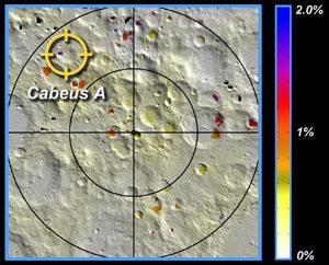Mapa okolí kráteru Cabeus-A
