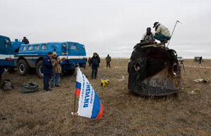 Sojuz TMA-15 po přistání