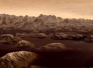 Jazera na Titanu - kresba