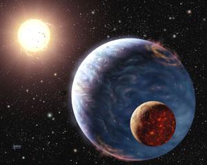 Exoplaneta s velkým měsícem