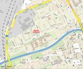 Mapa s parkovacími místy (zdroj www.mapy.cz)