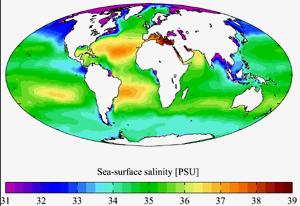 Salinita vody v oceánech