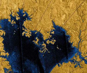 Ligeia Mare - jezero na Titanu