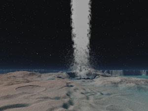 Gejzíry na Tritonu - měsíci Neptuna