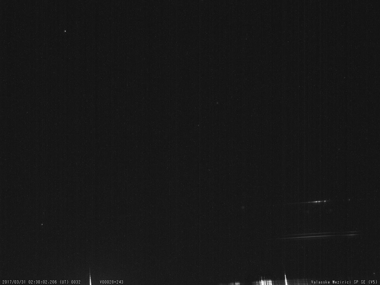 Obr. 12: Spektrum jasného meteoru 20170331_023002, spektrograf SPSE V5. Autor: Hvězdárna Valašské Meziříčí