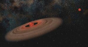 Protoplanetární disk kolem hnědého trpaslíka