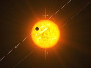 Retrográdní exoplaneta