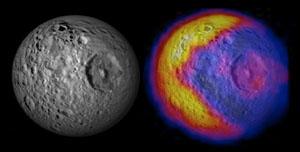 Saturnův měsíc Mimas