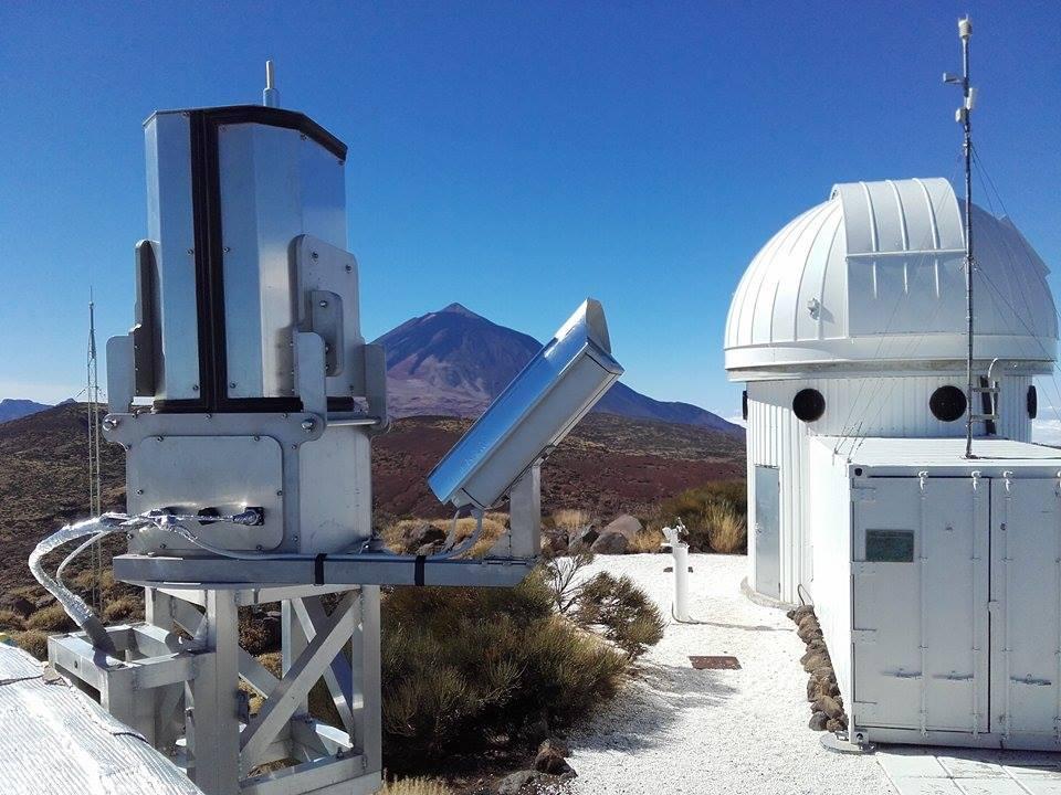 Spektrograf na observatoři Teide