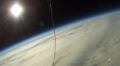 Snímek ze stratosféry z mise SDS 01 - TONDA